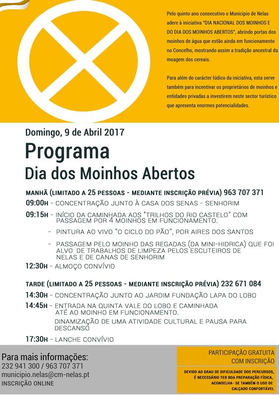 Verso programa Dia Moinhos Verso 2017