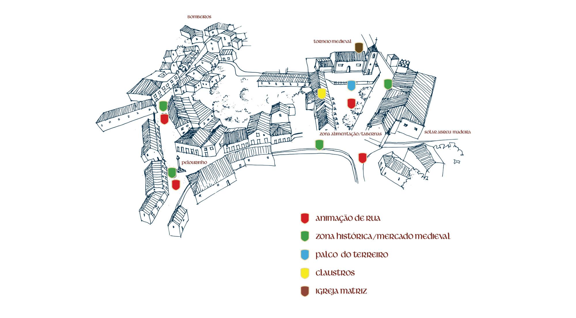 Mapa do Recinto da Viagem Medieval